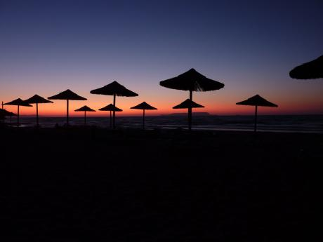 Kreta bei Sonnenuntergang
